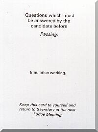 Emulation Passing question
