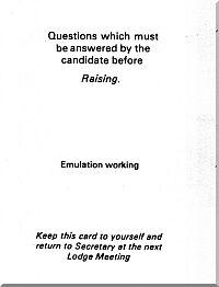 Emulation Raising Question