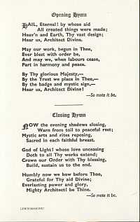 hymn cards