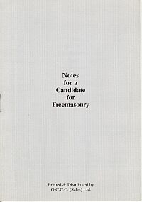 Notes for a candidate for Freemasonry