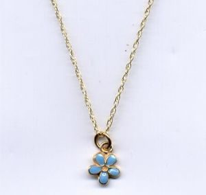 9ct gold forget me not necklace