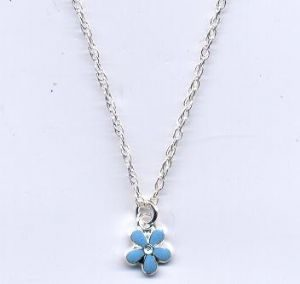 Silver forget me not necklace